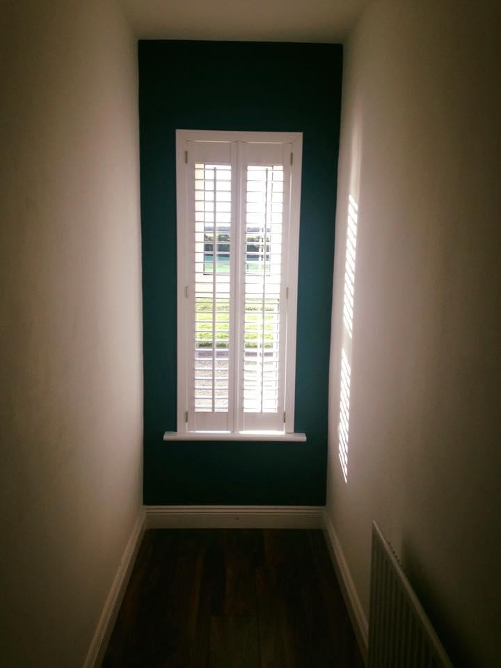 plantation shutter hallway